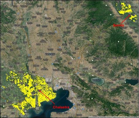 Greek Rice crop maps - 2015